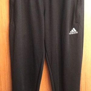 Adidas Climalite Black Track Pants Soccer Joggers